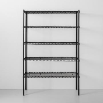Household Chrome Kitchen Steel Display Stand Wire Shelving